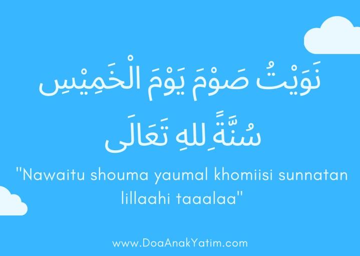 Doa Niat Puasa Kamis